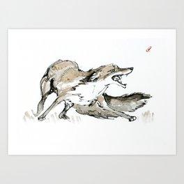 Scared Vixen Art Print