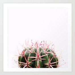 cactus red Art Print
