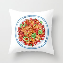 Spicy Chicken | 辣子鸡 Throw Pillow
