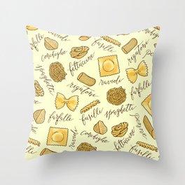 Know Your Pasta Throw Pillow
