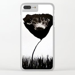 Black Poppies Clear iPhone Case
