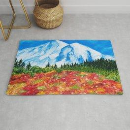 Mt. Rainier Meadows Rug