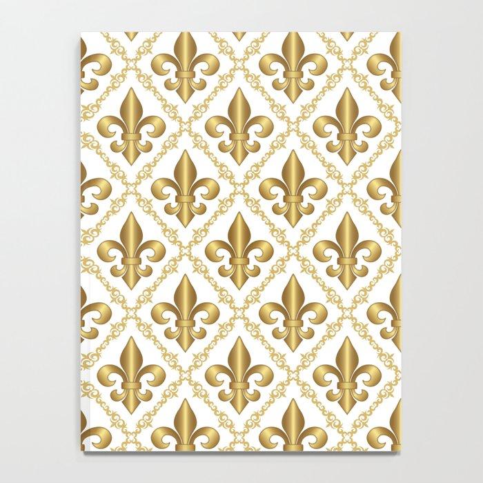 Gold Fleur-de-Lis Pattern Notebook