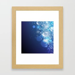 Illustraiton of underwater background with light rays Framed Art Print