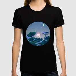 Minhwa: Lotus Pond at Night B Type T-shirt