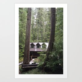 Forest Cabin Art Print