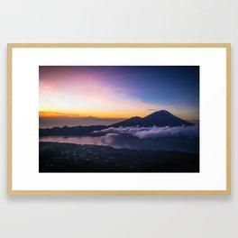 Volcanic Sunrise in Bali Framed Art Print