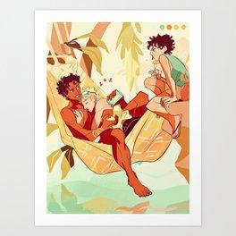 Damen & Laurent summer Art Print