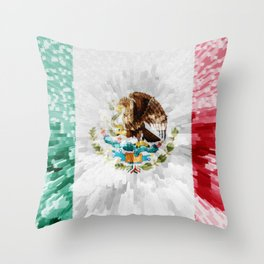 Extruded Flag of Mexico Throw Pillow