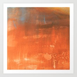 Abstract art in tan Art Print