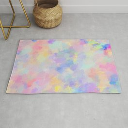 Secret Garden Colorful Abstract Impressionist Painting Pattern Rug