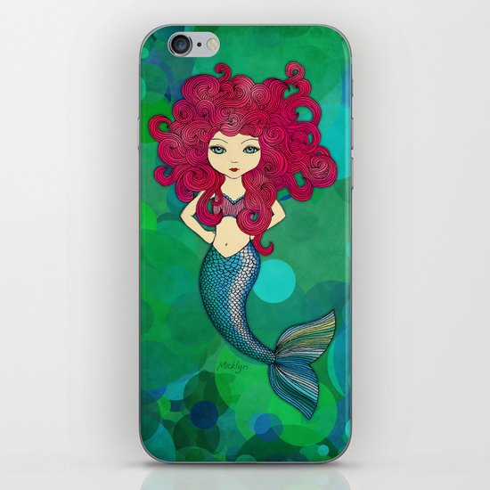Some days I wear my hair, other days my hair wears me. (Mermaid.) iPhone & iPod Skin