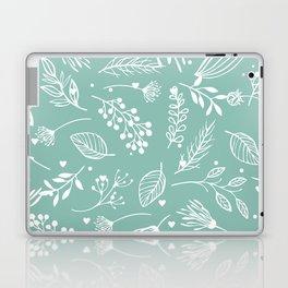 Mint floral Laptop & iPad Skin