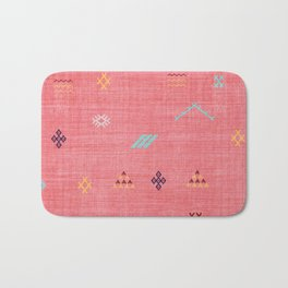 Cactus Silk Pattern in Pink Bath Mat