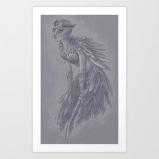 Owl Girl Art Print