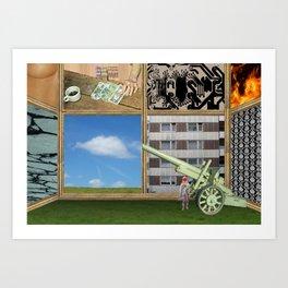 An der Schwelle zur Freiheit · a day with Magritte 1 Art Print