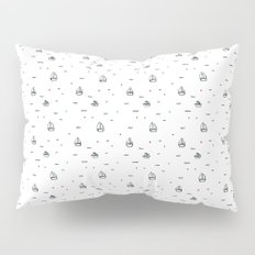 boats subtle pattern Pillow Sham
