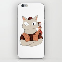 Walter the metal cat iPhone Skin