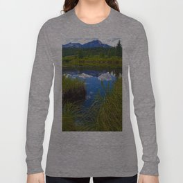 Pyramid Mountain in Jasper National Park, Canada Long Sleeve T-shirt