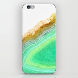 Druze green agate iPhone Skin