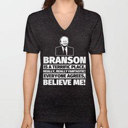 Branson Funny Gifts - City Humor Unisex V-Neck