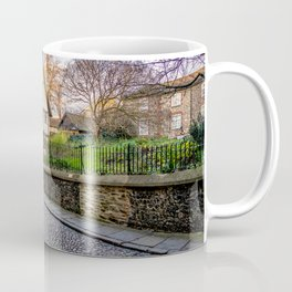 The medieval cobbled stone street of Elm Hill, Norwich Coffee Mug