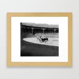 Torero black white Framed Art Print