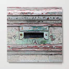 Mail Slot Metal Print
