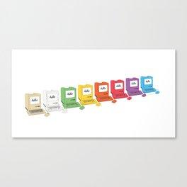 8 Macs in a Row Canvas Print