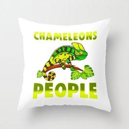 I Love Chameleons People Annoy Me Funny Chameleon Lover Gift Throw Pillow