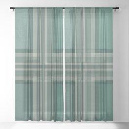 Shades of green Sheer Curtain