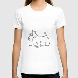 Woof Scottish Terrier T-shirt
