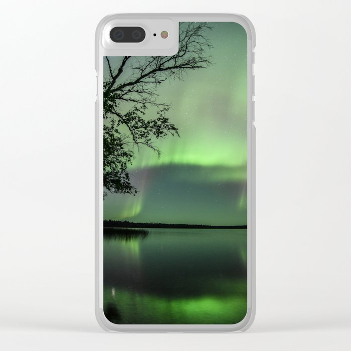 Aurora Borealis on the Water Clear iPhone Case