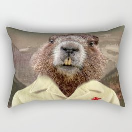 Hudson Beaver Rectangular Pillow