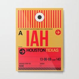 IAH Houston Luggage Tag 1 Metal Print