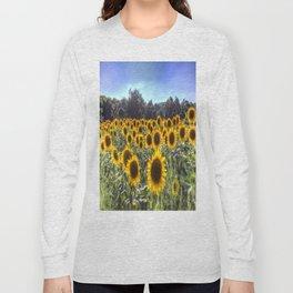 Sunflower Fields Of Summer Long Sleeve T-shirt
