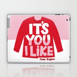 It's You I Like Mister Rogers Sweater Laptop & iPad Skin