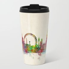 London Skyline Watercolor Travel Mug