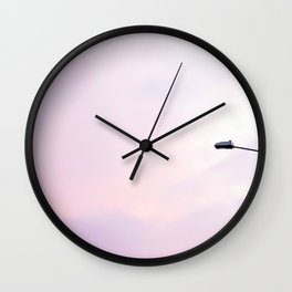 Gradient Blush Sky Wall Clock
