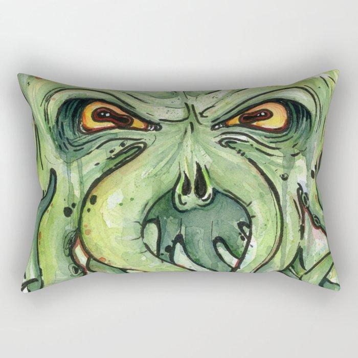 Cthulhu HP Lovecraft Green Monster Tentacles Rectangular Pillow