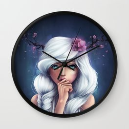 White-haired Girl Wall Clock