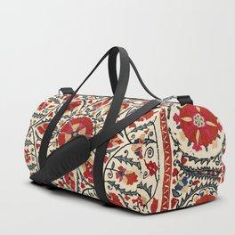 Bokhara Suzani Uzbekistan Colorful Embroidery Print Duffle Bag