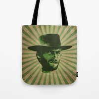 clint barton Tote Bags featuring Clint by Durro