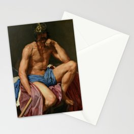 """Diego Velázquez """"Mars or Resting Mars (Descanso de Marte, literally The Rest of Mars)"""" Stationery Cards"""