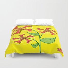 Doxie Flower Duvet Cover