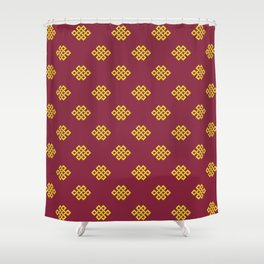 Eternity knot, endless knot pattern Shower Curtain