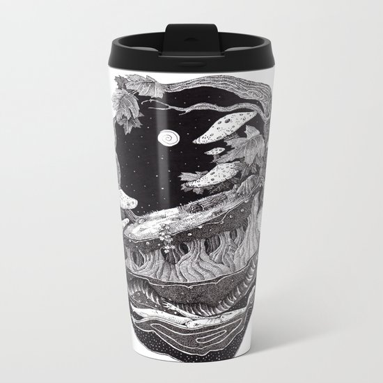 dark spirit of the nature collab franciscomff Metal Travel Mug