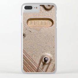 Abstract Detail Of The Inside Of A Piano Clear iPhone Case