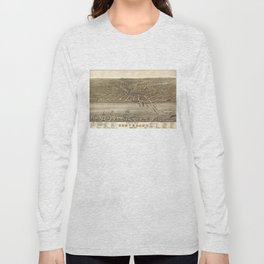 Vintage Pictorial Map of Cleveland (1877) Long Sleeve T-shirt