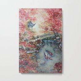 Autumn Morning (Watercolor painting) Metal Print
